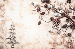 Vintage Christmas background Stock Photography
