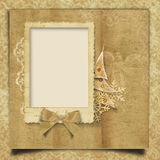 Vintage Christmas background with frame Stock Images