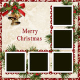 Vintage Christmas background with frame Royalty Free Stock Photos