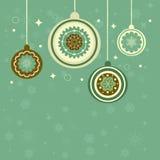 Vintage Christmas Background. Stock Photo