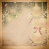 Vintage christmas background. Royalty Free Stock Image