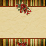 Vintage Christmas background with space for text  Royalty Free Stock Image