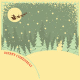 Vintage Christmas background with text on night la Stock Image