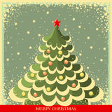 Vintage Christmas background with tree Royalty Free Stock Images
