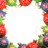 Vintage christmas balls frame Stock Photo