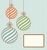 Vintage christmas balls Stock Images