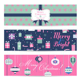 Vintage Christmas Banners, Labels, Tags Royalty Free Stock Photo