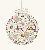 Vintage Christmas bauble greeting card Stock Image