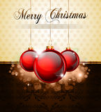 Vintage Christmas Baubles Background Royalty Free Stock Image