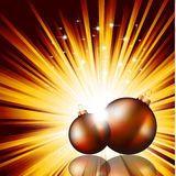 Vintage Christmas Baubles Background Royalty Free Stock Photo