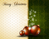 Vintage Christmas Baubles Background Royalty Free Stock Photos