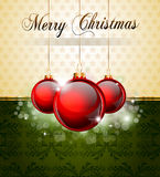 Vintage Christmas Baubles Background Stock Photo