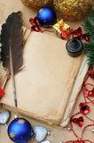 Vintage Christmas book royalty free stock images