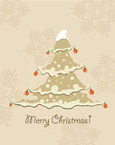 Vintage Christmas Card . Royalty Free Stock Photos