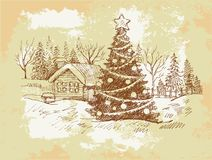 Vintage Christmas Card . Royalty Free Stock Photo