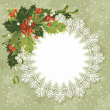 Vintage Christmas card Stock Photo