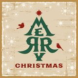 Vintage Christmas Card stock images