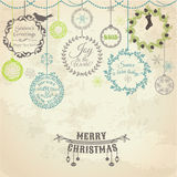 Vintage Christmas Card. For design and scrapbook - in Royalty Free Stock Photography
