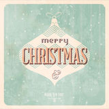 Vintage Christmas Card Royalty Free Stock Images