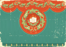 Vintage Christmas card for background Royalty Free Stock Images