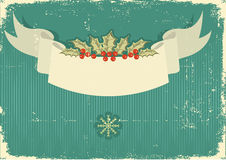 Vintage Christmas card for background Royalty Free Stock Photo