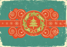 Vintage Christmas card for background Royalty Free Stock Image