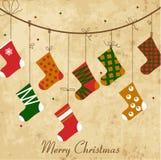 Vintage Christmas card Stock Photography