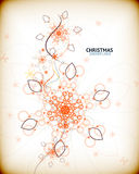 Vintage Christmas card with decorative snowflakes Stock Photo