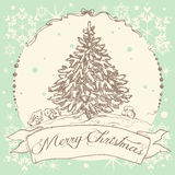Vintage Christmas card design Stock Photo
