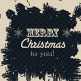 Vintage Christmas card design Royalty Free Stock Photography