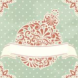 Vintage Christmas card with filigree ornament Royalty Free Stock Image