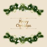 Vintage Christmas card Stock Photography