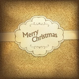 Vintage Christmas card in golden gamut. Stock Photography