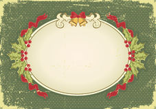 Vintage Christmas card with holiday elements Royalty Free Stock Photos