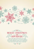 Vintage Christmas Card - Illustration. Royalty Free Stock Photo