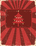 Vintage christmas card on old paper texture Royalty Free Stock Images