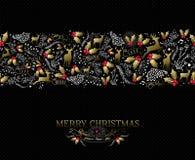 Vintage Christmas card reindeer seamless pattern Royalty Free Stock Image