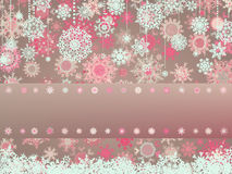 Vintage Christmas card with snowflakes. EPS 8 stock illustration