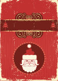 Vintage Christmas card for text Stock Images