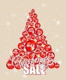 Vintage Christmas Card, vector. Christmas sale background Stock Photography