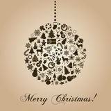 Vintage christmas card Royalty Free Stock Photography