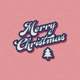 Vintage christmas card Stock Image