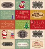Vintage Christmas cards Royalty Free Stock Photo