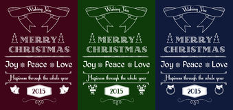 Vintage Christmas cards set Royalty Free Stock Photos