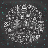 Vintage Christmas Chalkboard. Stock Photography