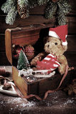 Vintage christmas chest Royalty Free Stock Image