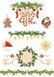Vintage Christmas collection. Royalty Free Stock Images