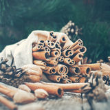Vintage Christmas Composition with Sticks of Stock Images