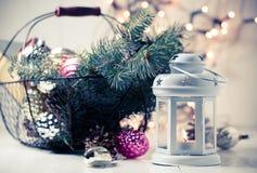 Vintage Christmas decor Stock Image