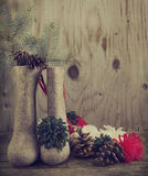 Vintage christmas decoration Royalty Free Stock Image
